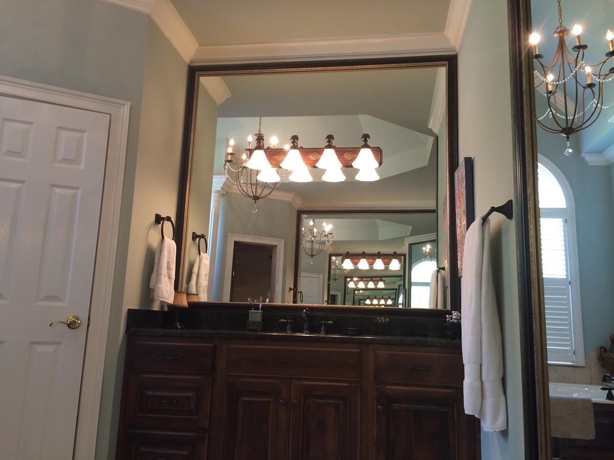 Custom Frames For Existing Bathroom Mirrors