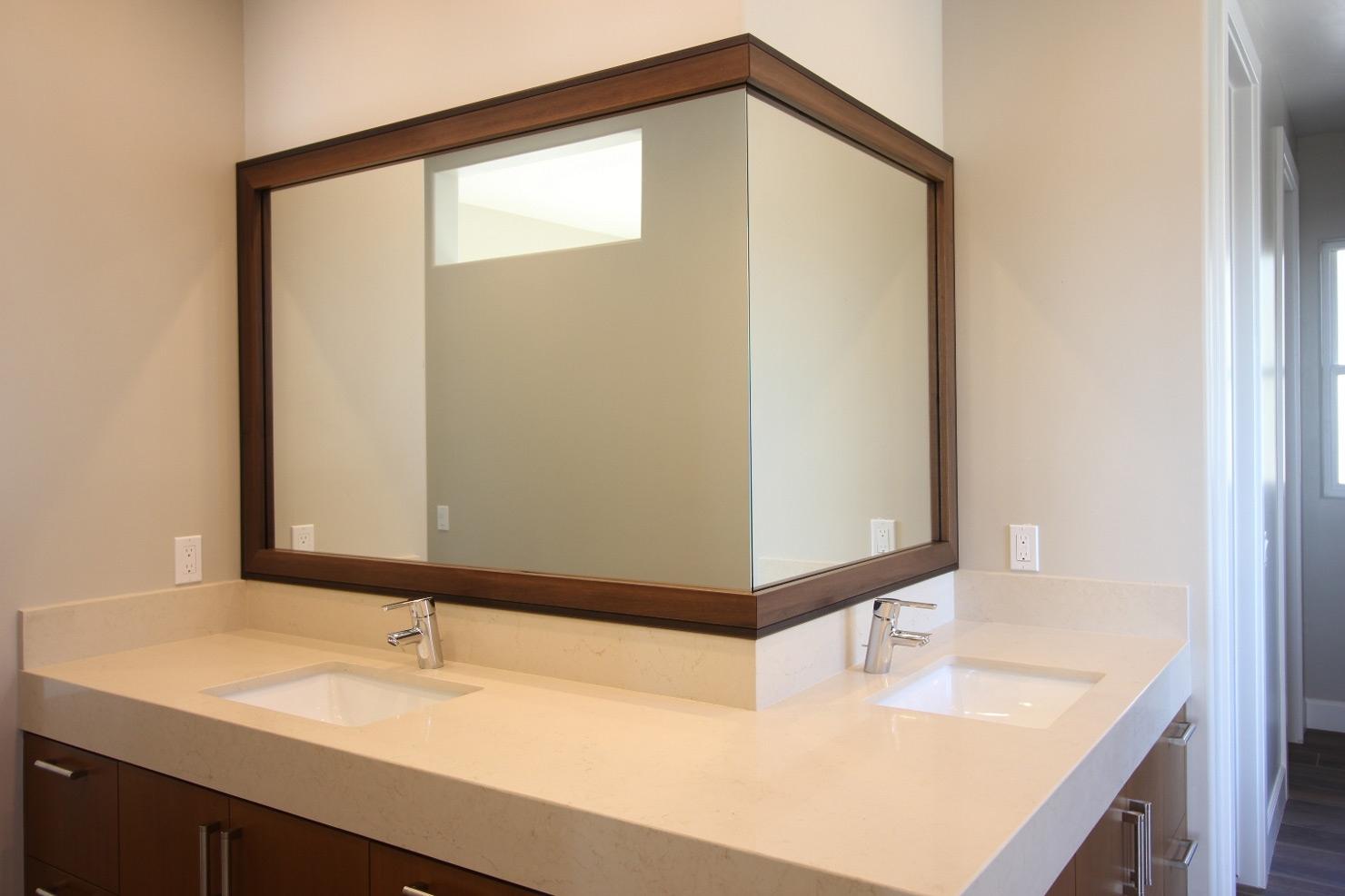 Custom Mirror Frames Bathroom