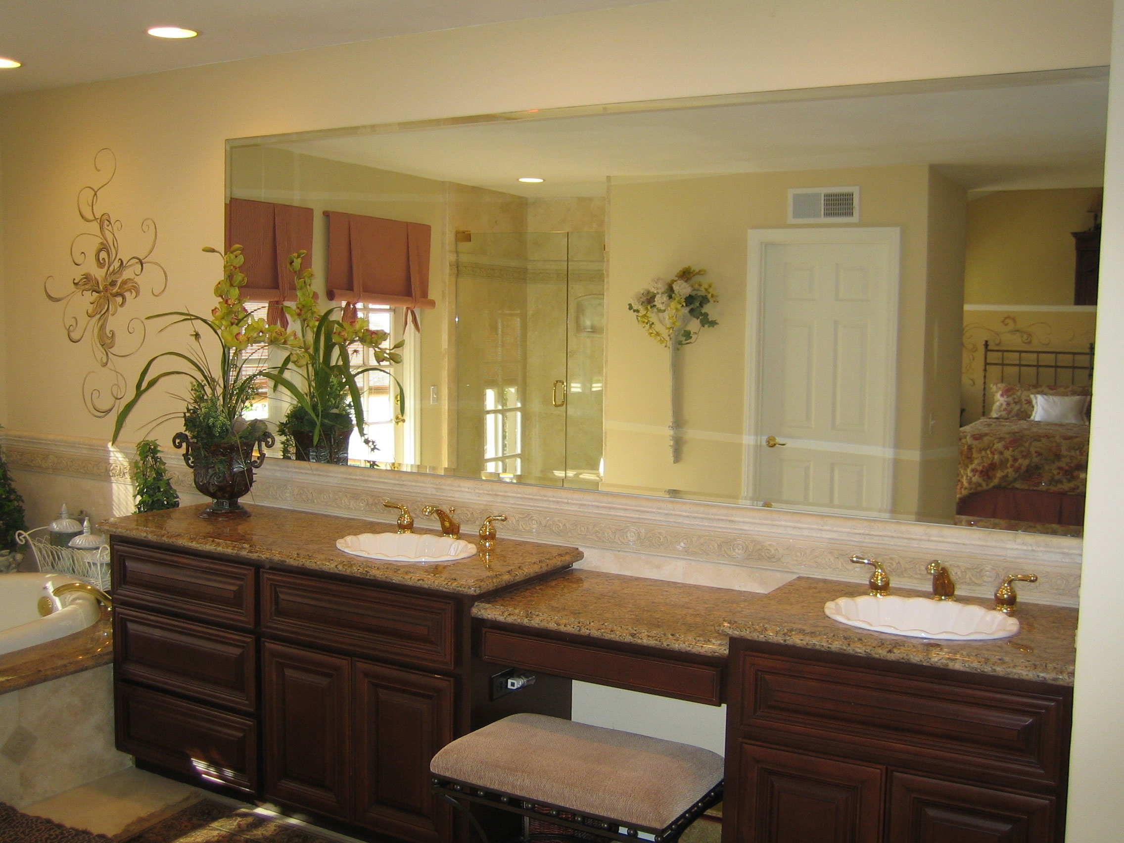 Custom Wall Mirrors For Bathroom