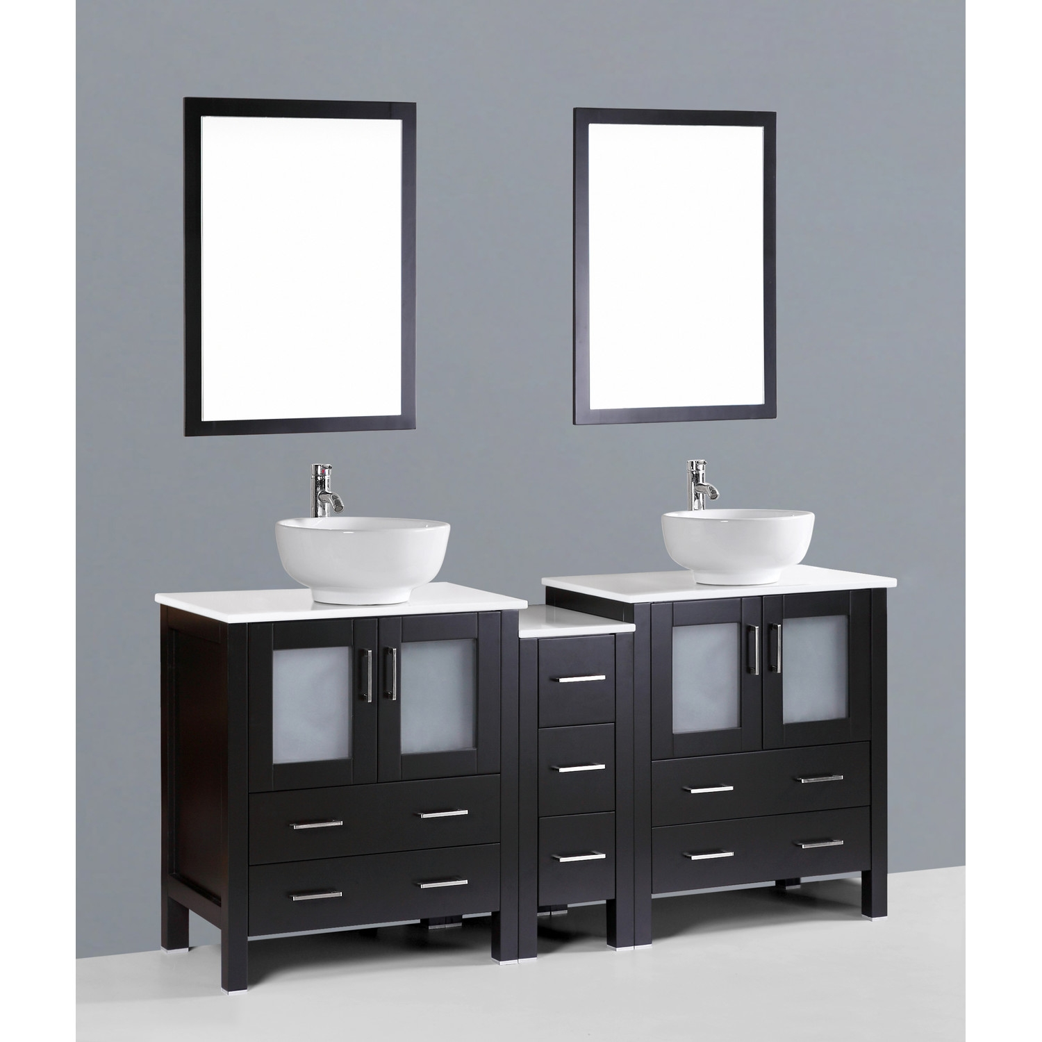 Dark Espresso Bathroom Mirror