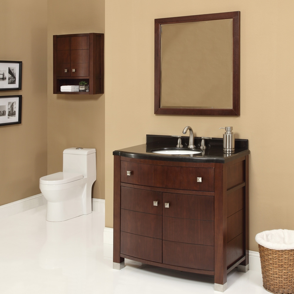Dark Walnut Bathroom Mirror