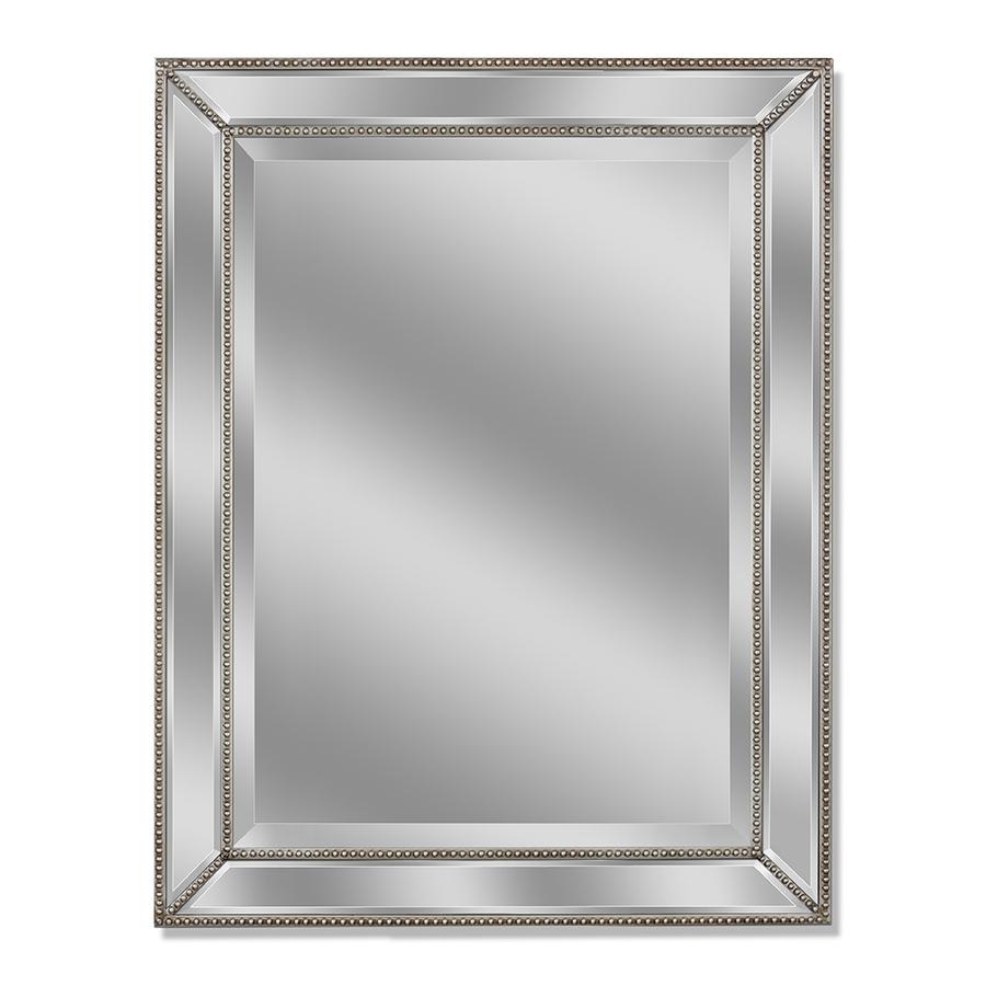 Dazzling Silver Leaf Frameless Wall Mirror