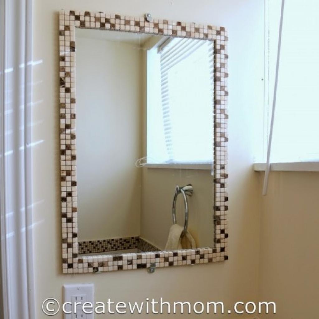 Decorate A Plain Bathroom Mirror