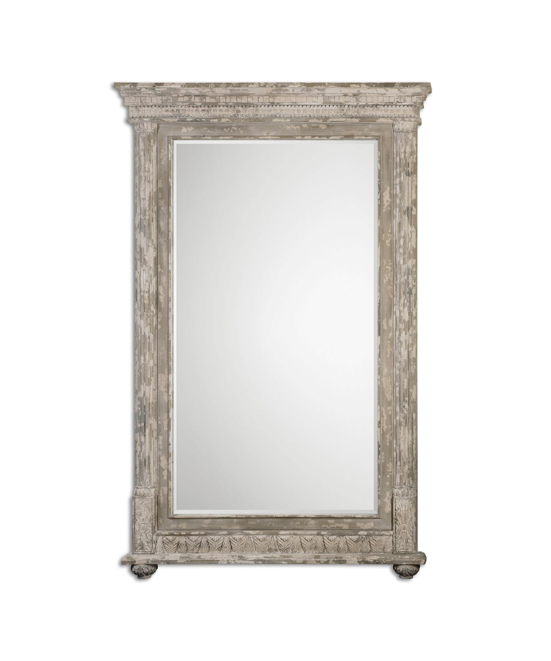 Distressed Ivory Wall Mirror