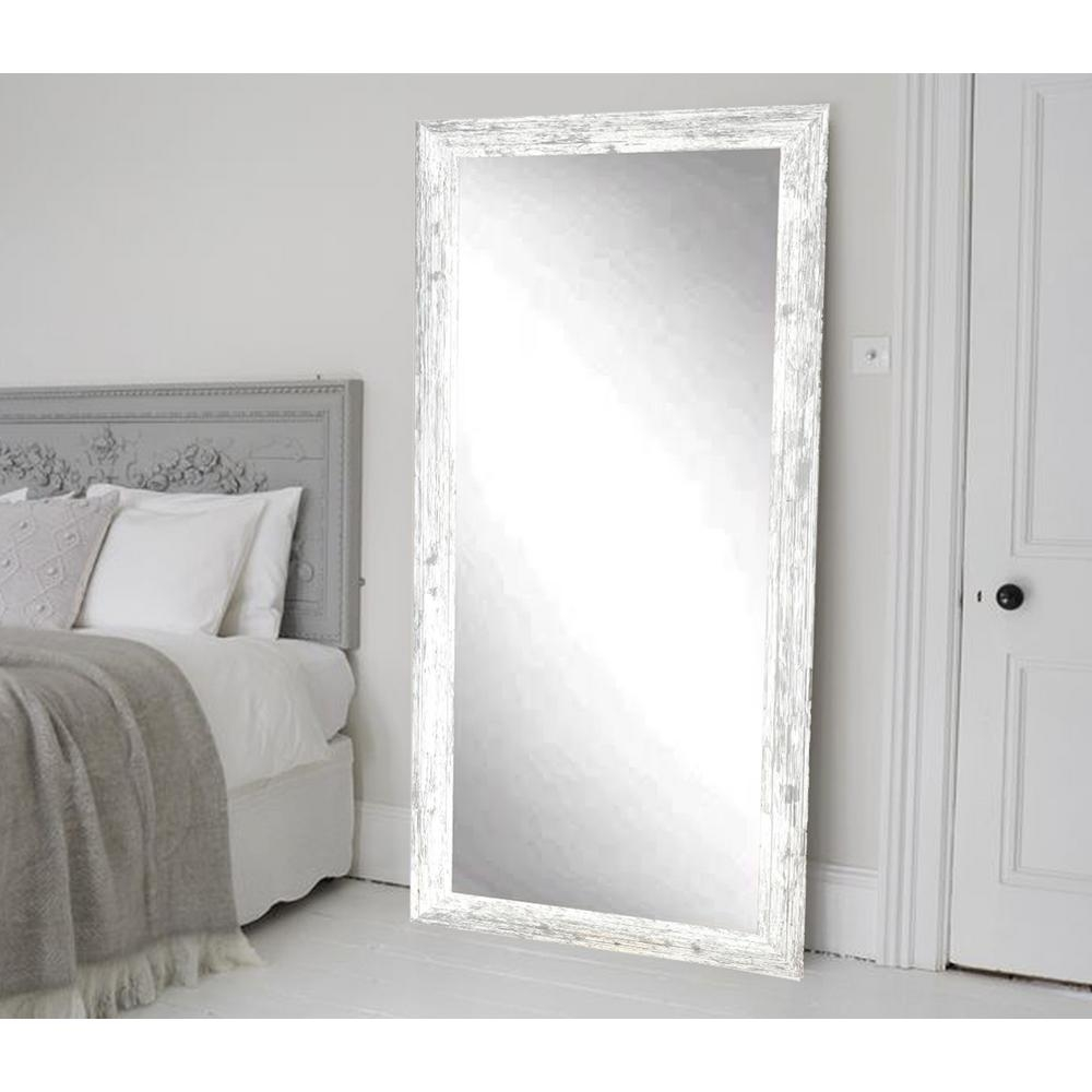 Distressed White Wall Mirror