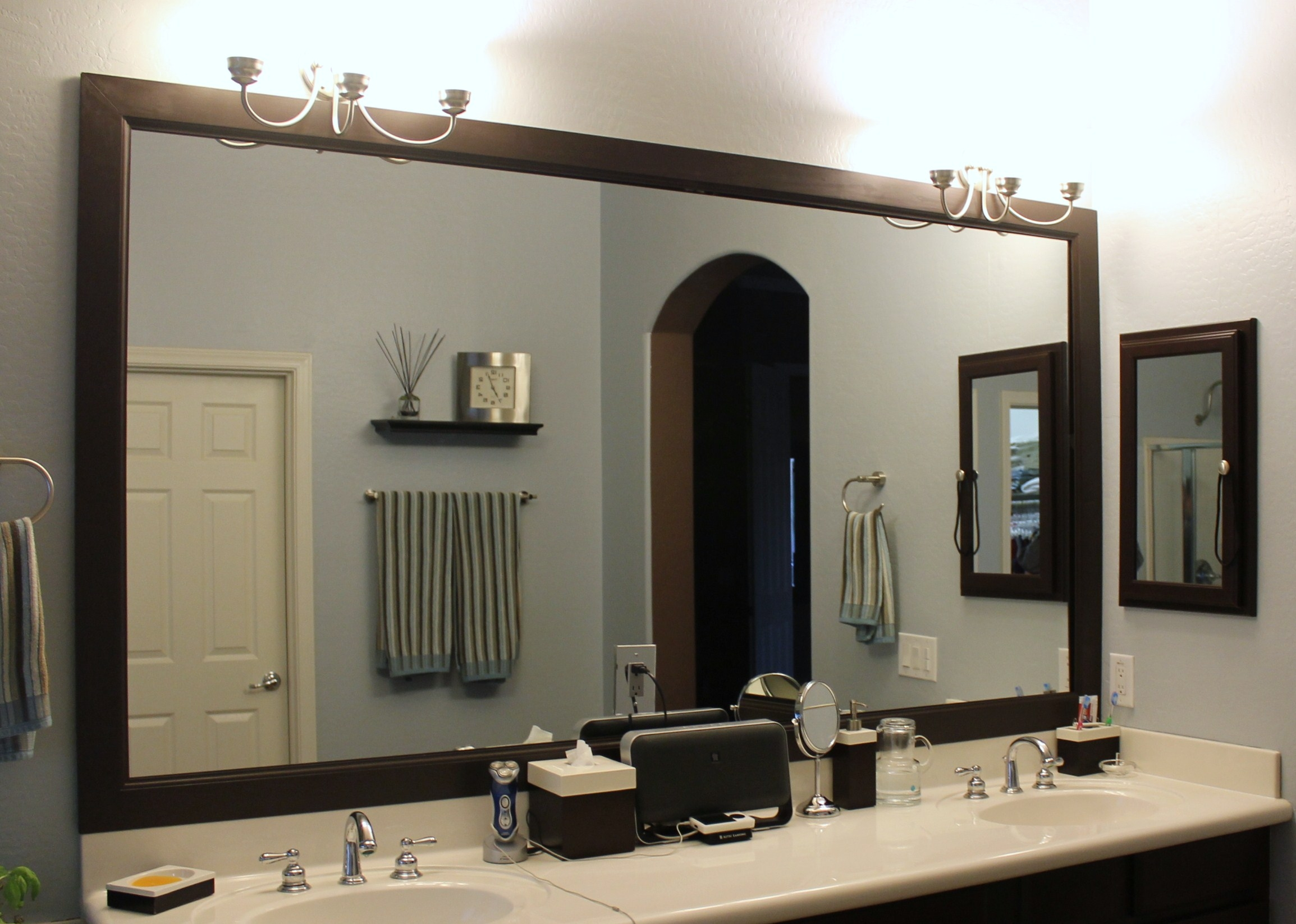 Diy Bathroom Mirror Trim