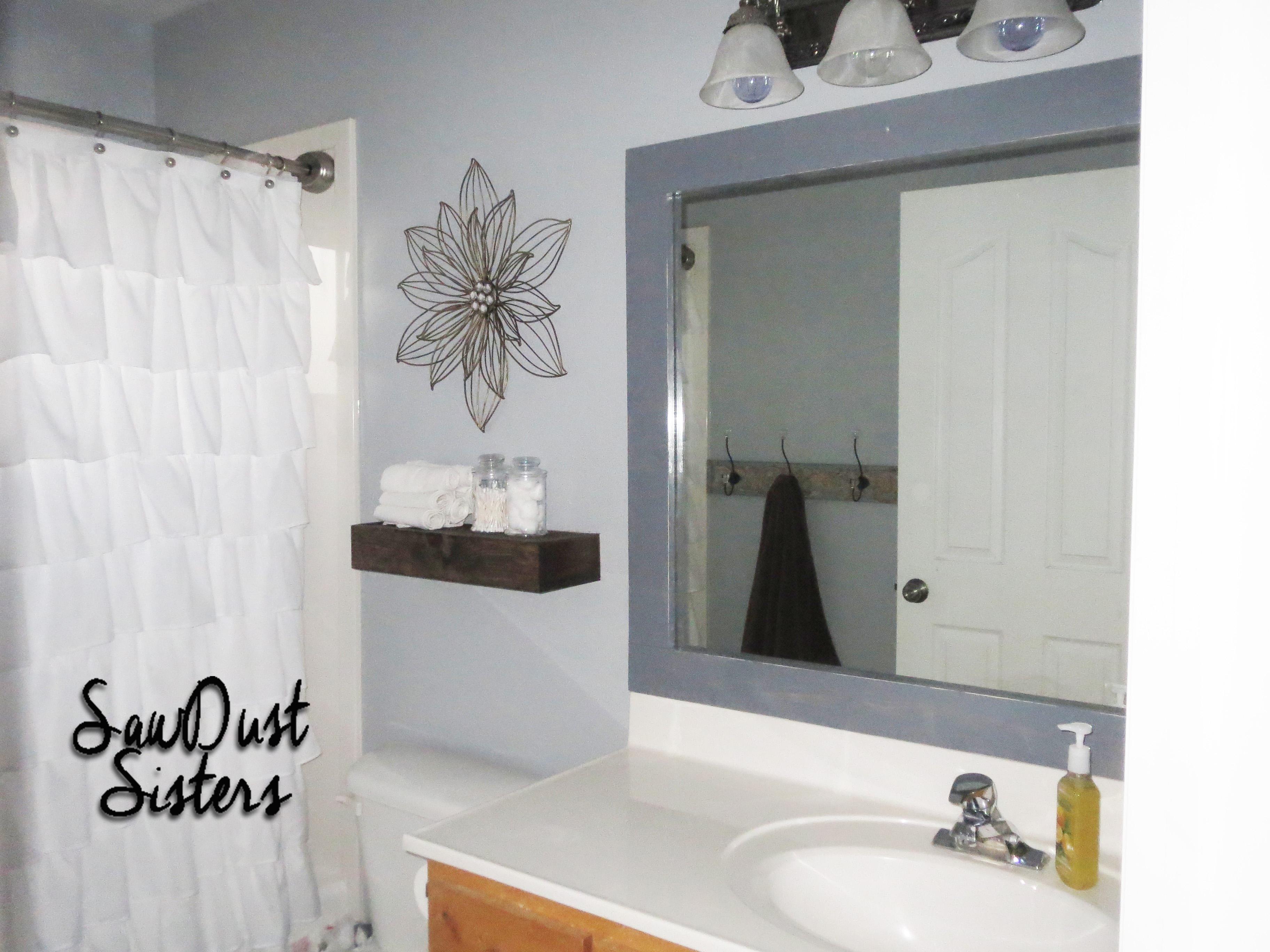 Diy Framed Mirror For Bathroom