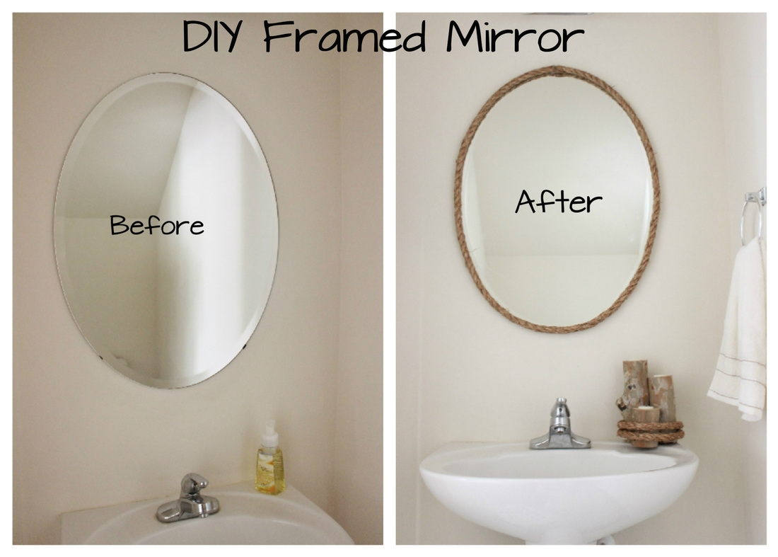 Diy Framed Oval Bathroom Mirror