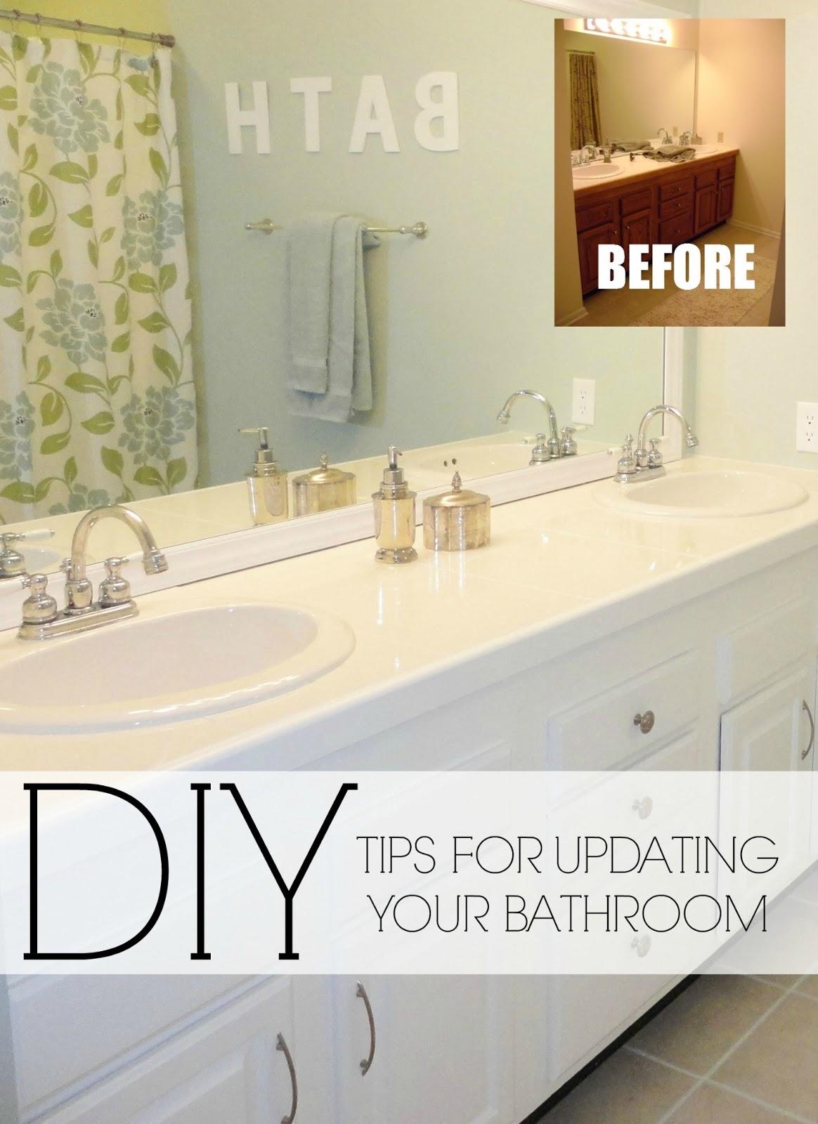 Diy Update Bathroom Mirror
