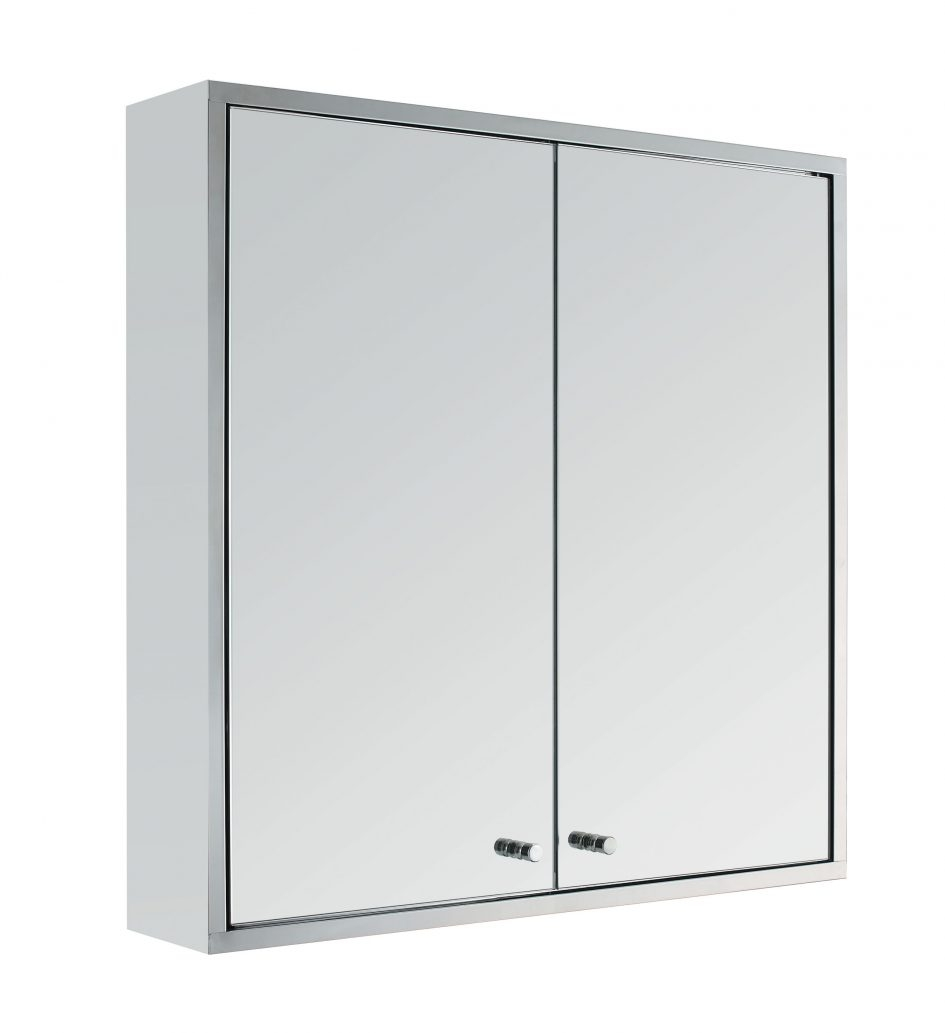 Double Mirrored Bathroom Cabinet Stainless Steel