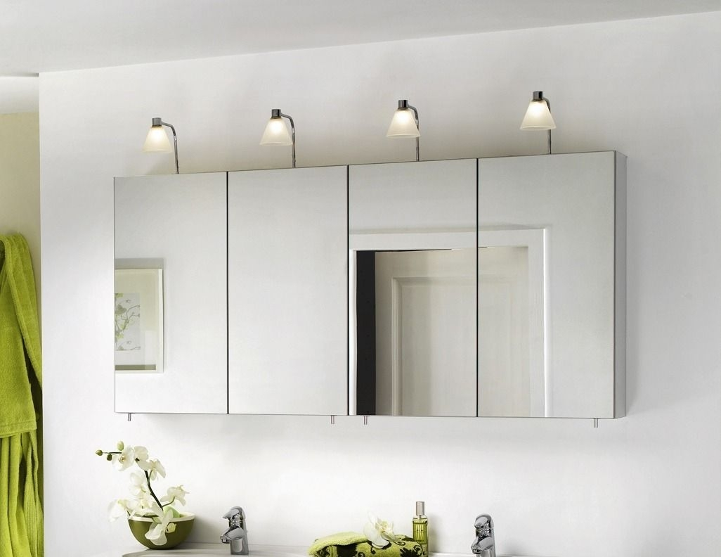 Double Mirrored Bathroom Wall Cabinet
