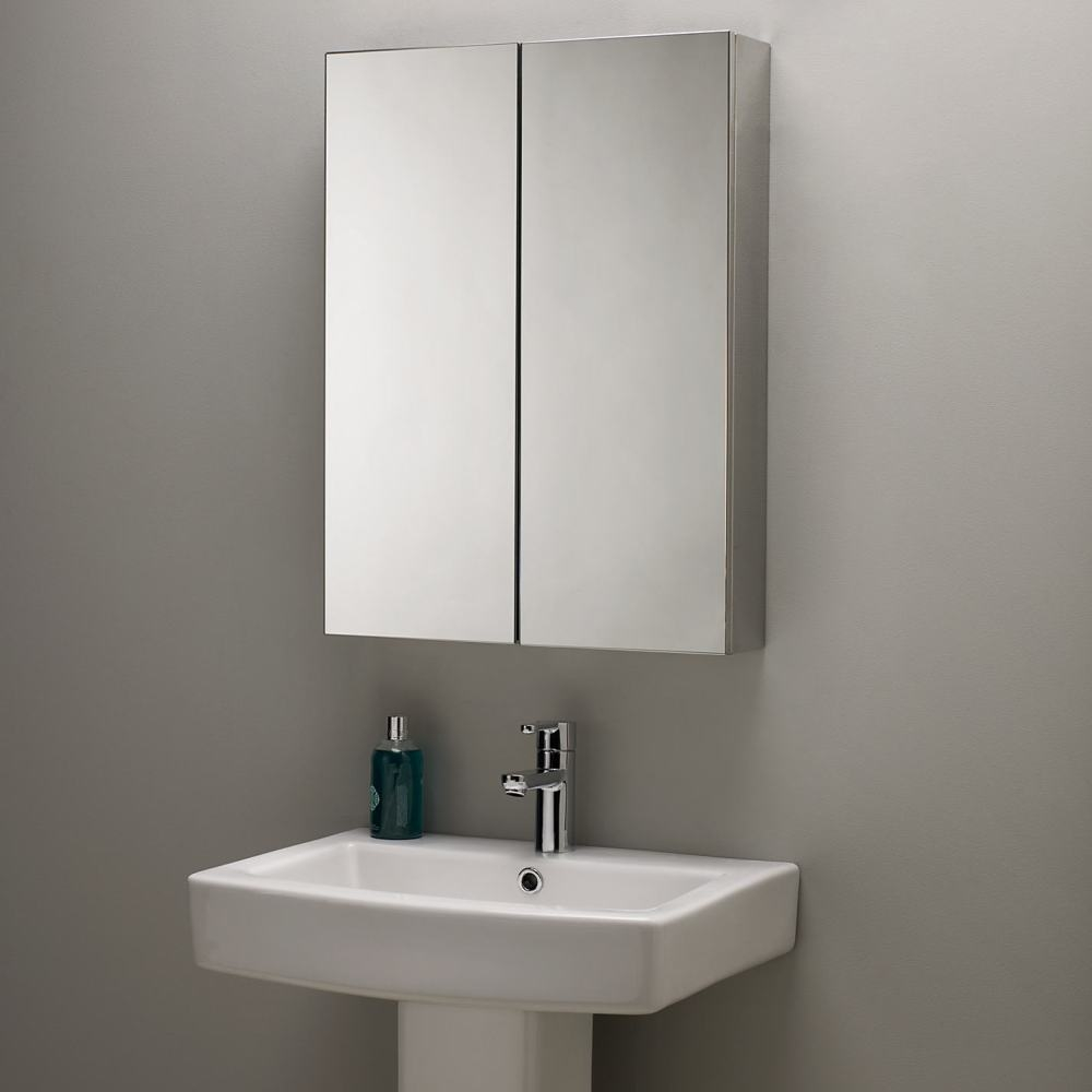 Double Sided Mirrored Bathroom Cabinet