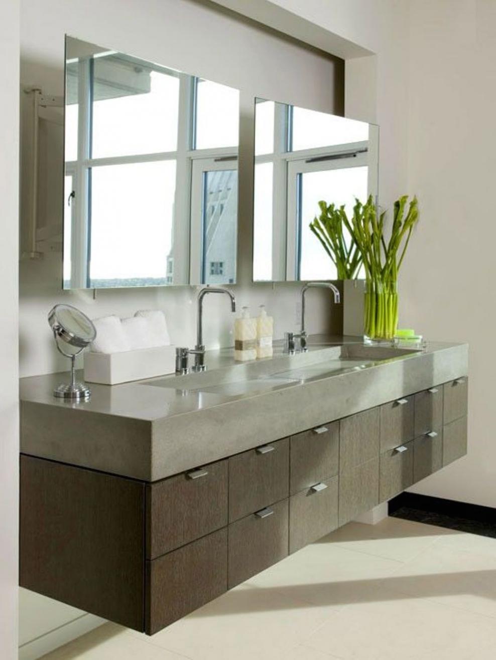 Double Wide Bathroom Mirrors