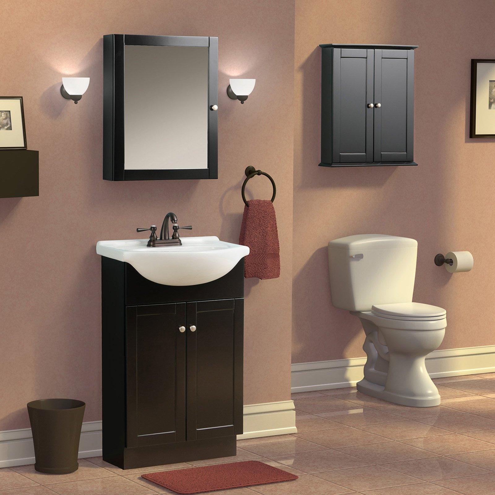 Espresso Bathroom Wall Mirror