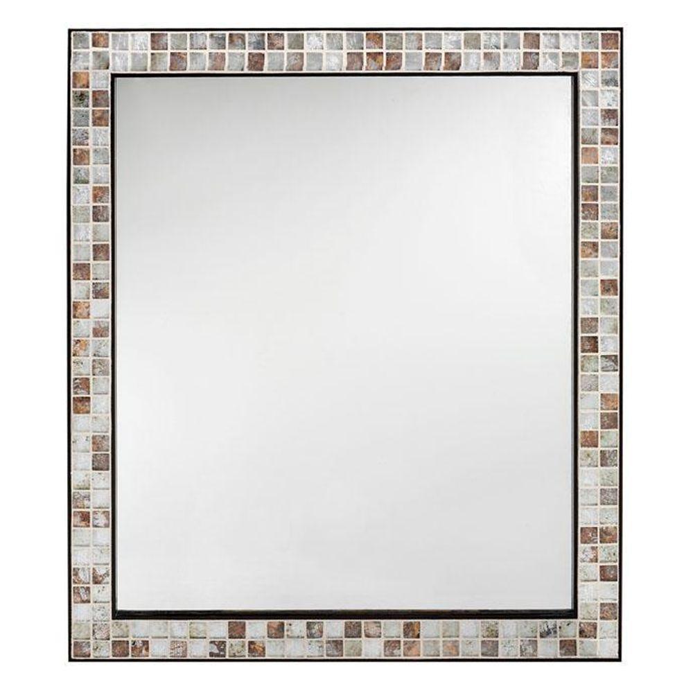 Espresso Rectangular Bathroom Mirror