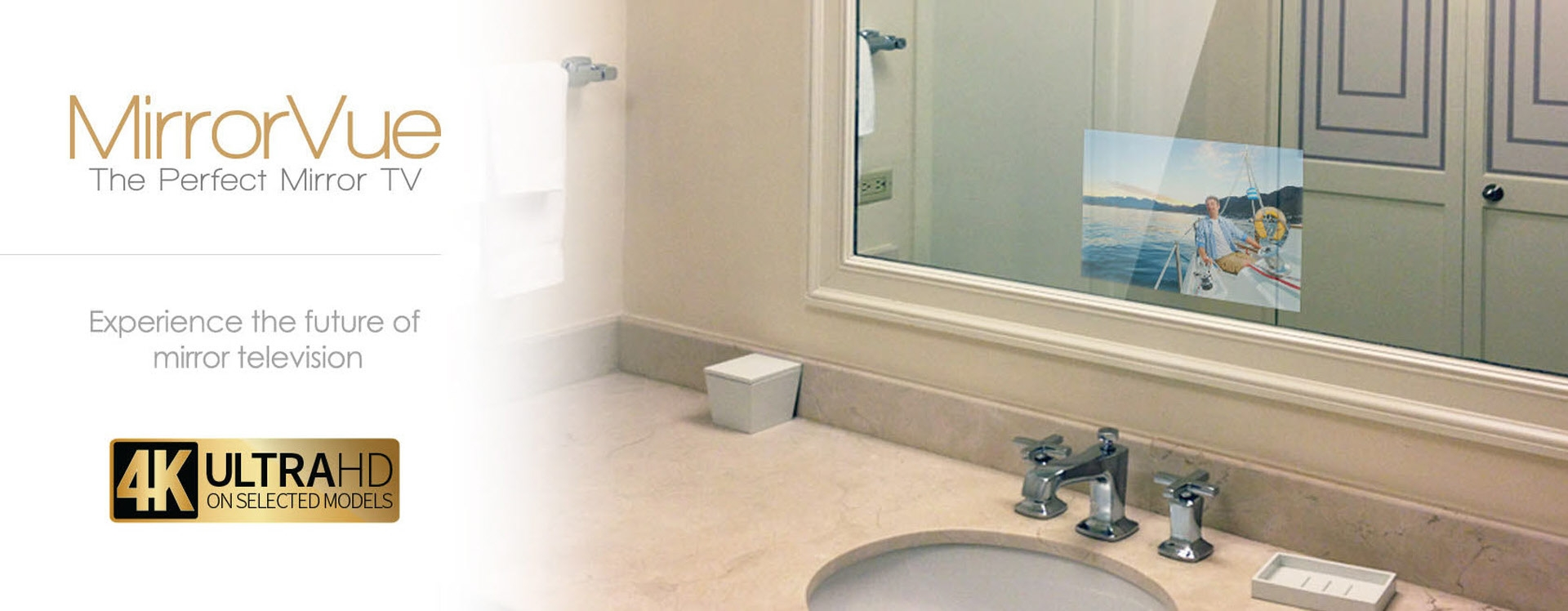 Evervue Waterproof Mirror Bathroom Tv