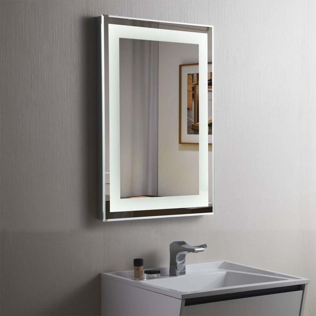 Extra Wide Illuminated Bathroom Mirrors