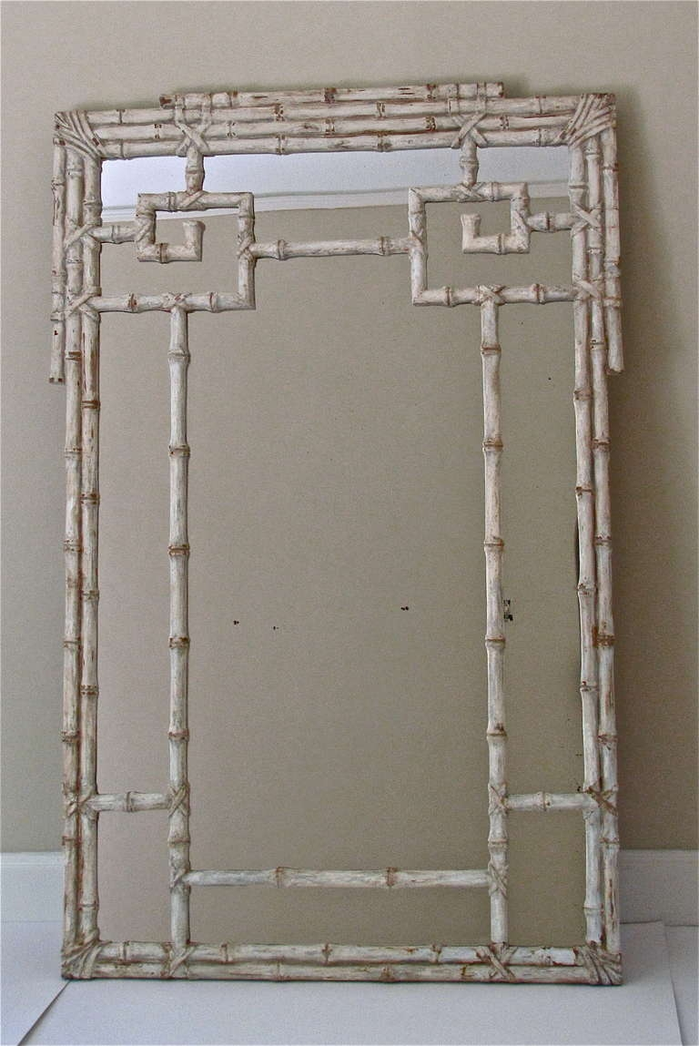 Faux Bamboo Wall Mirror