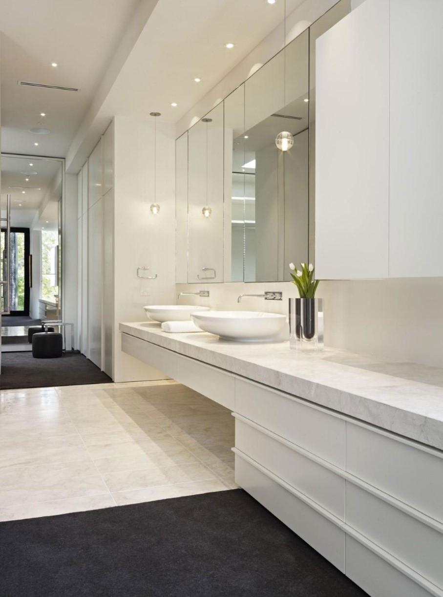 Flat Bathroom Wall Mirror
