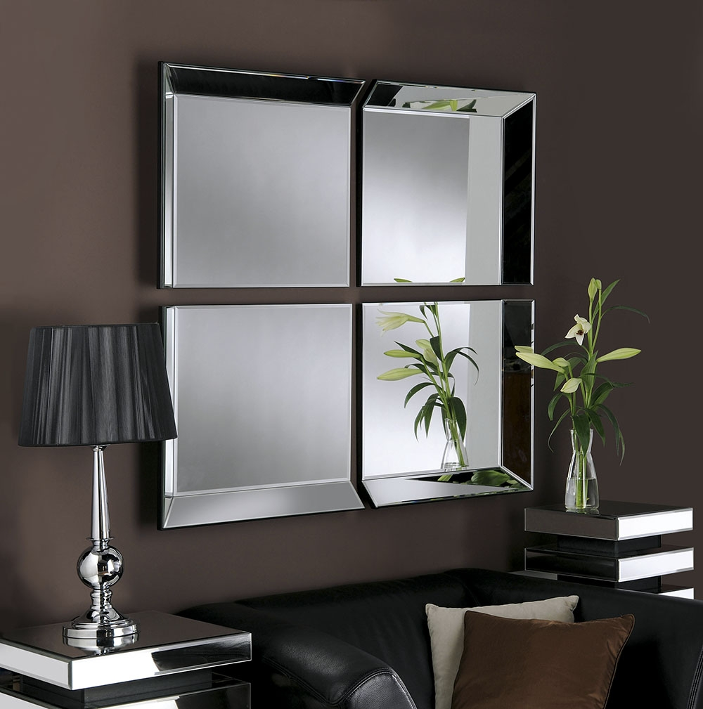 Four Panel Wall Mirror