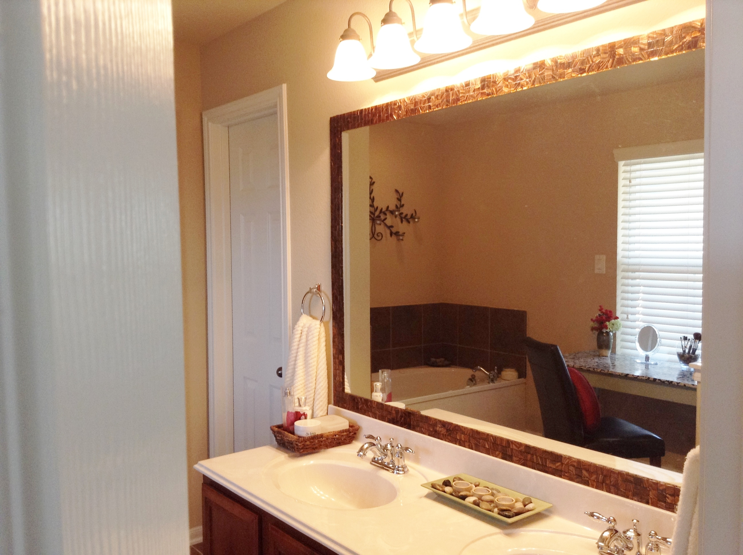 Frame A Bathroom Mirror With Tile