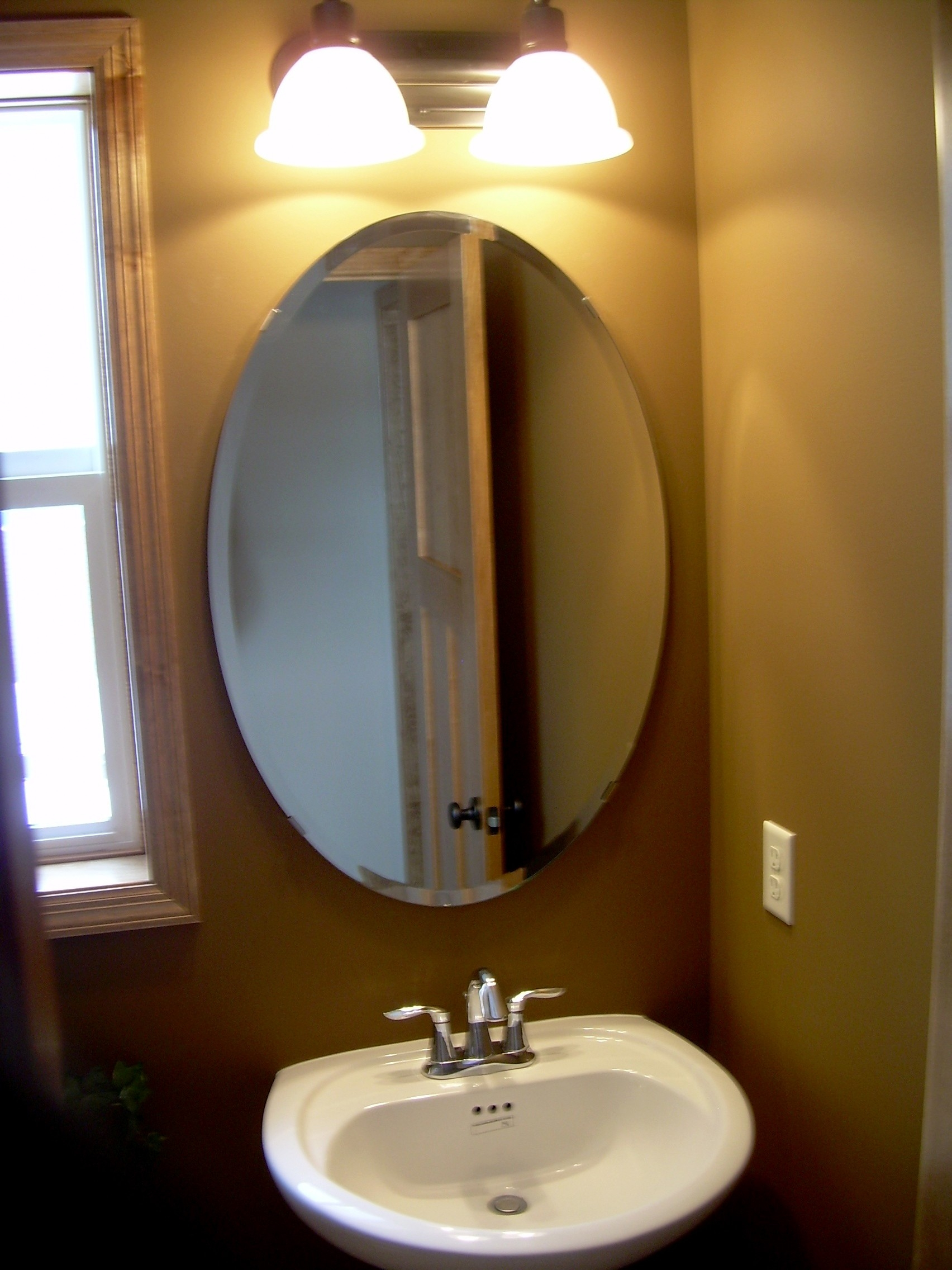 Framed Oval Mirrors For Bathrooms
