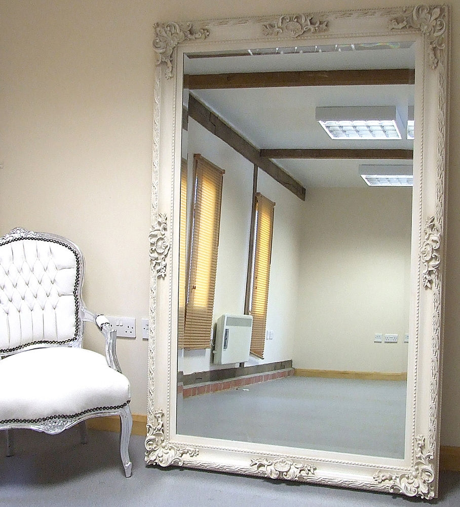 Full Length Ivory Wall Mirror