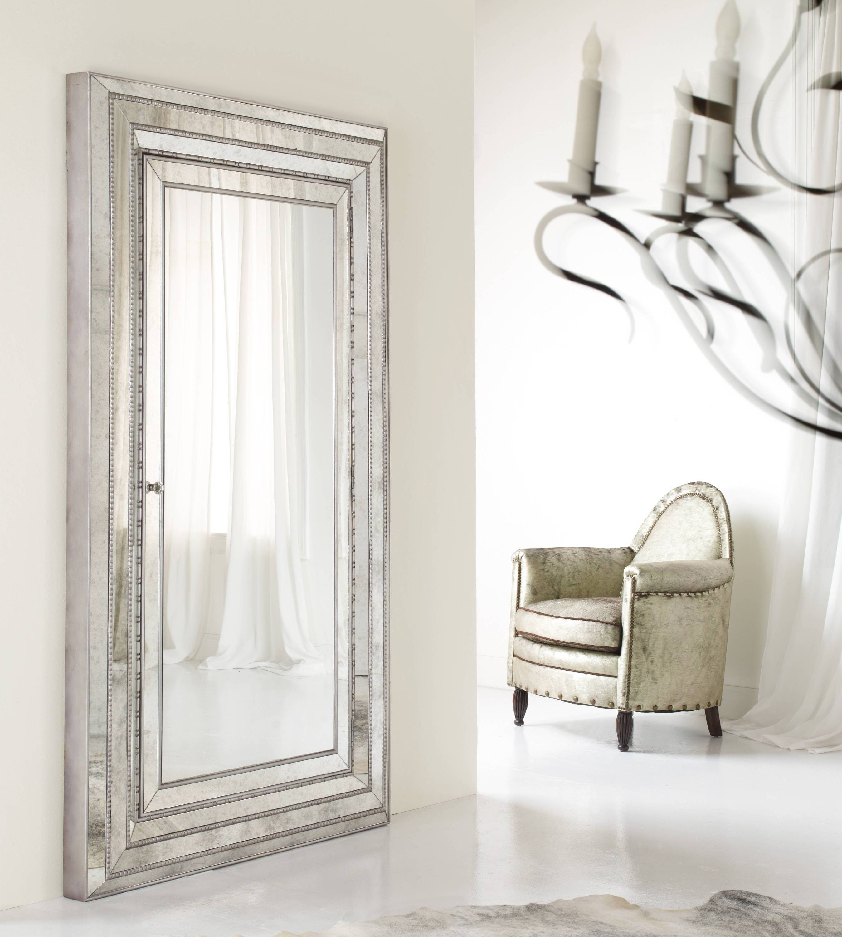 Full Length Wall Mirror With Jewelry Storage Inside