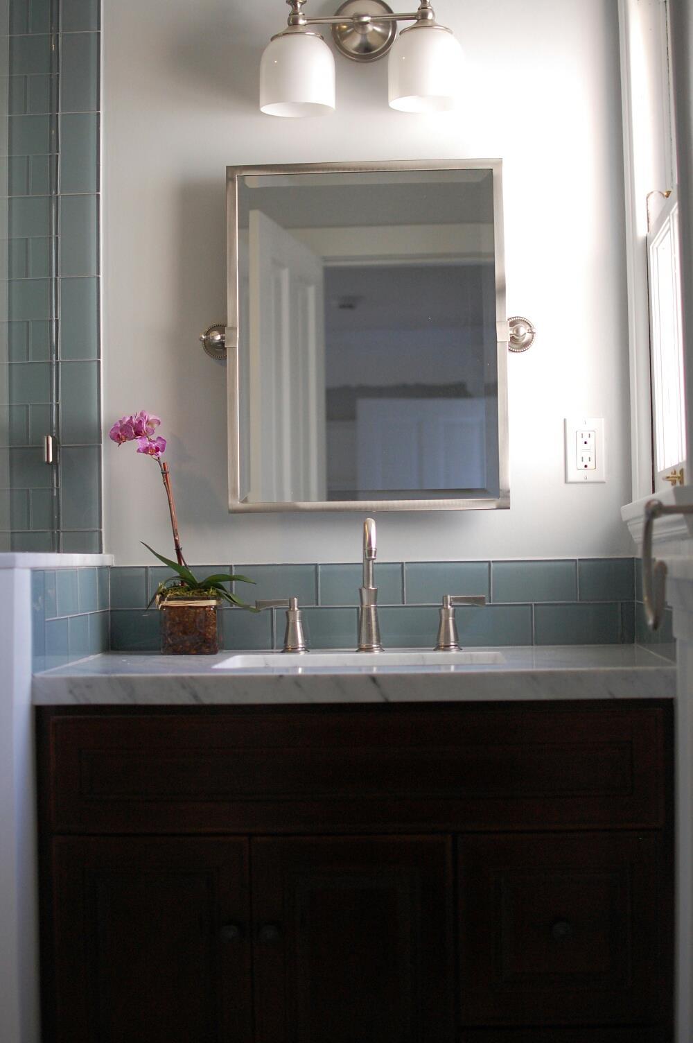 Glass Tile Bathroom Mirrors