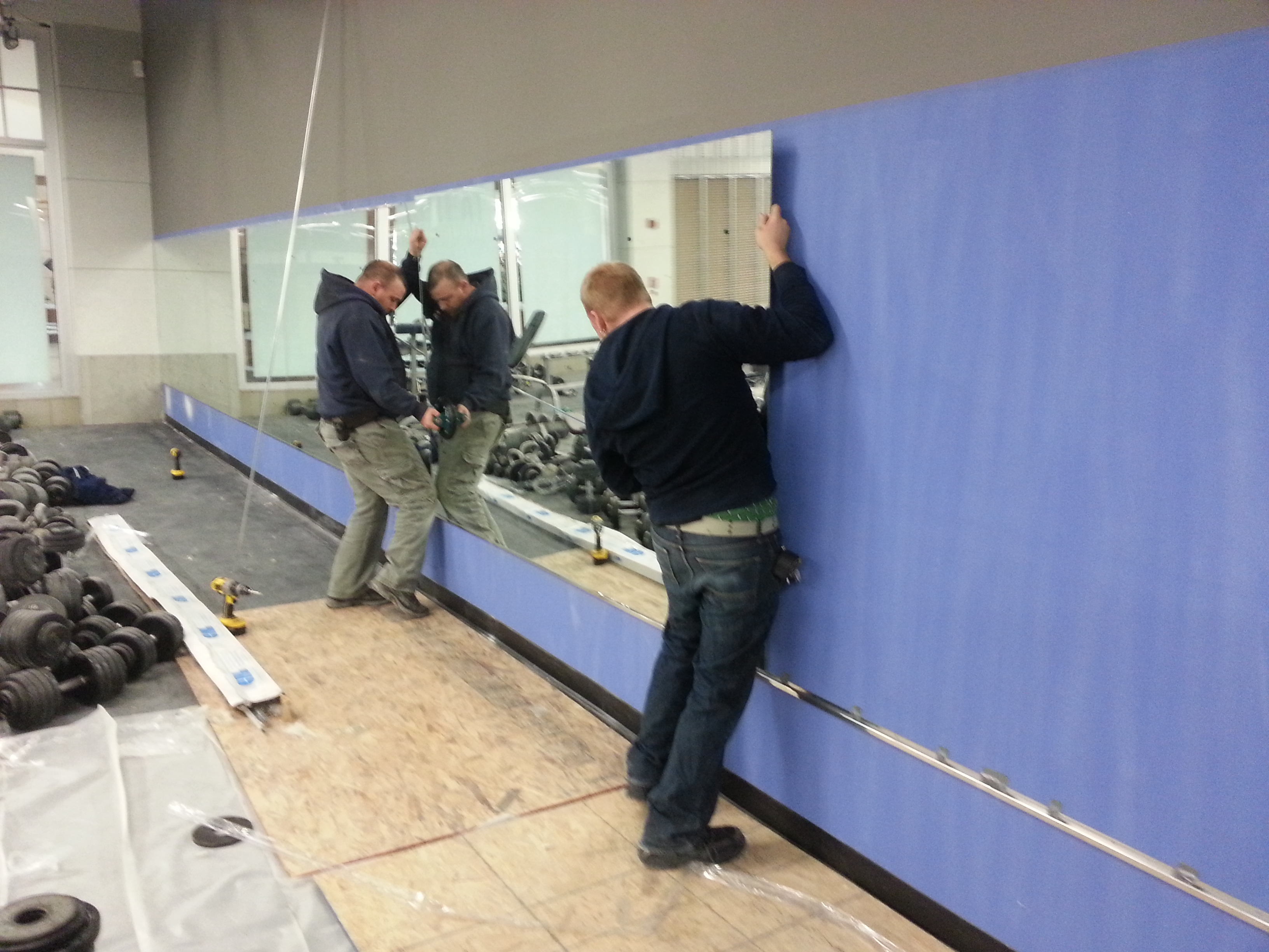 Glue A Mirror To A Wall