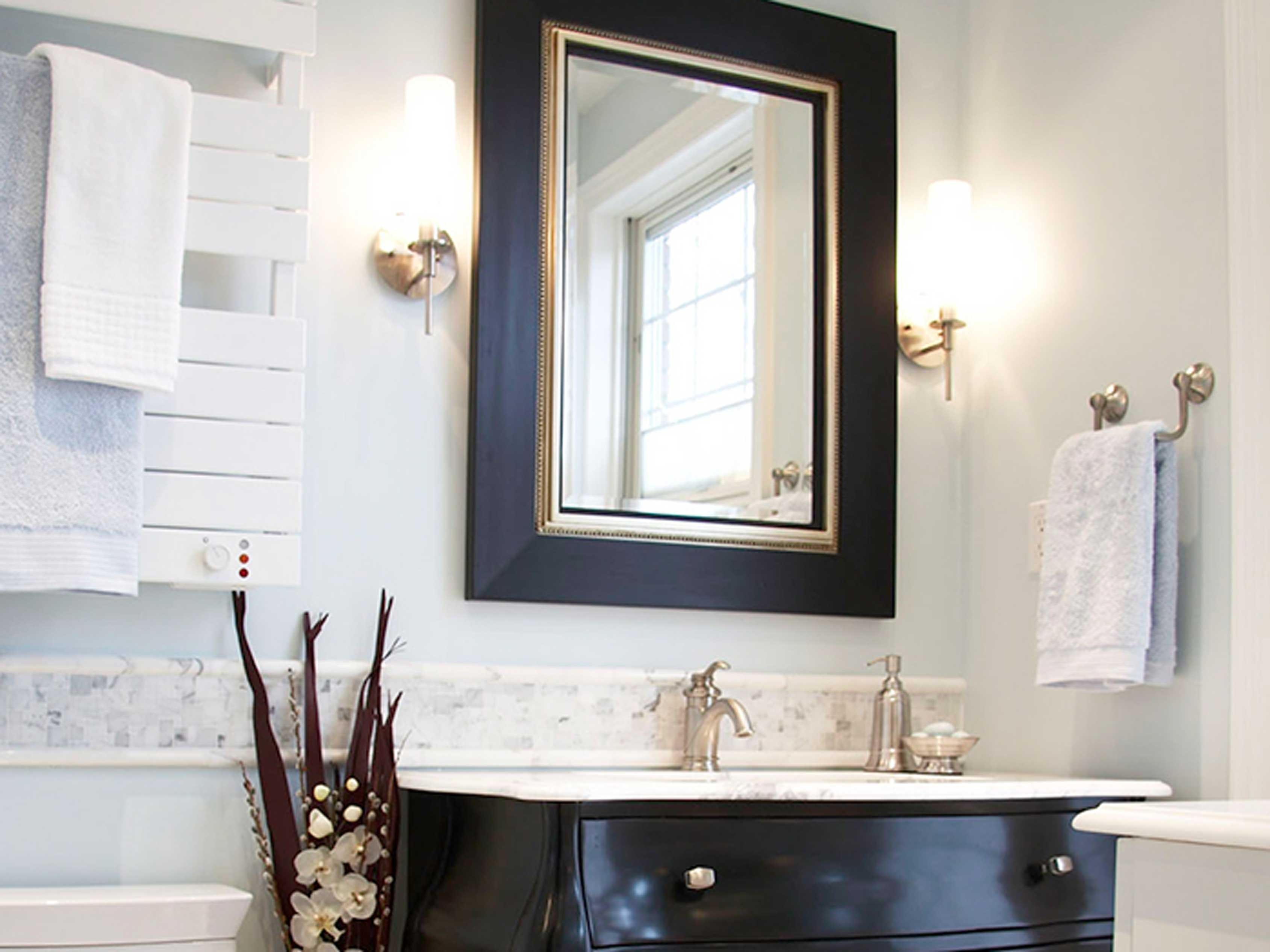 Gold Framed Bathroom Mirror