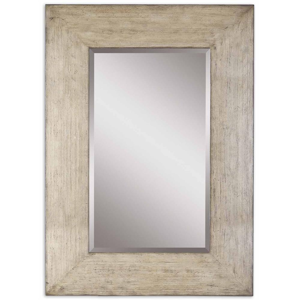 Gray Wood Wall Mirror