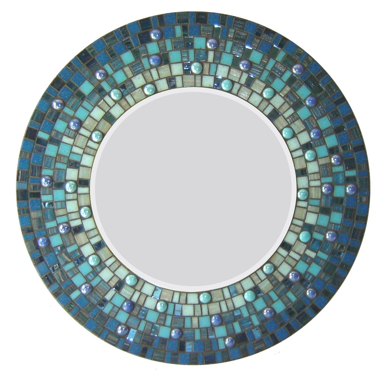 Green Mosaic Wall Mirror