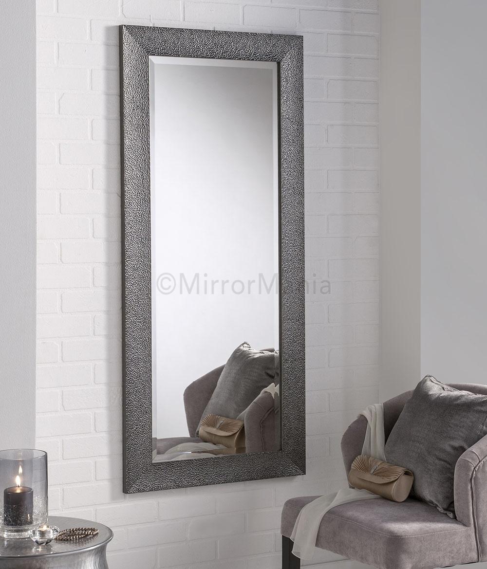Grey Framed Wall Mirror