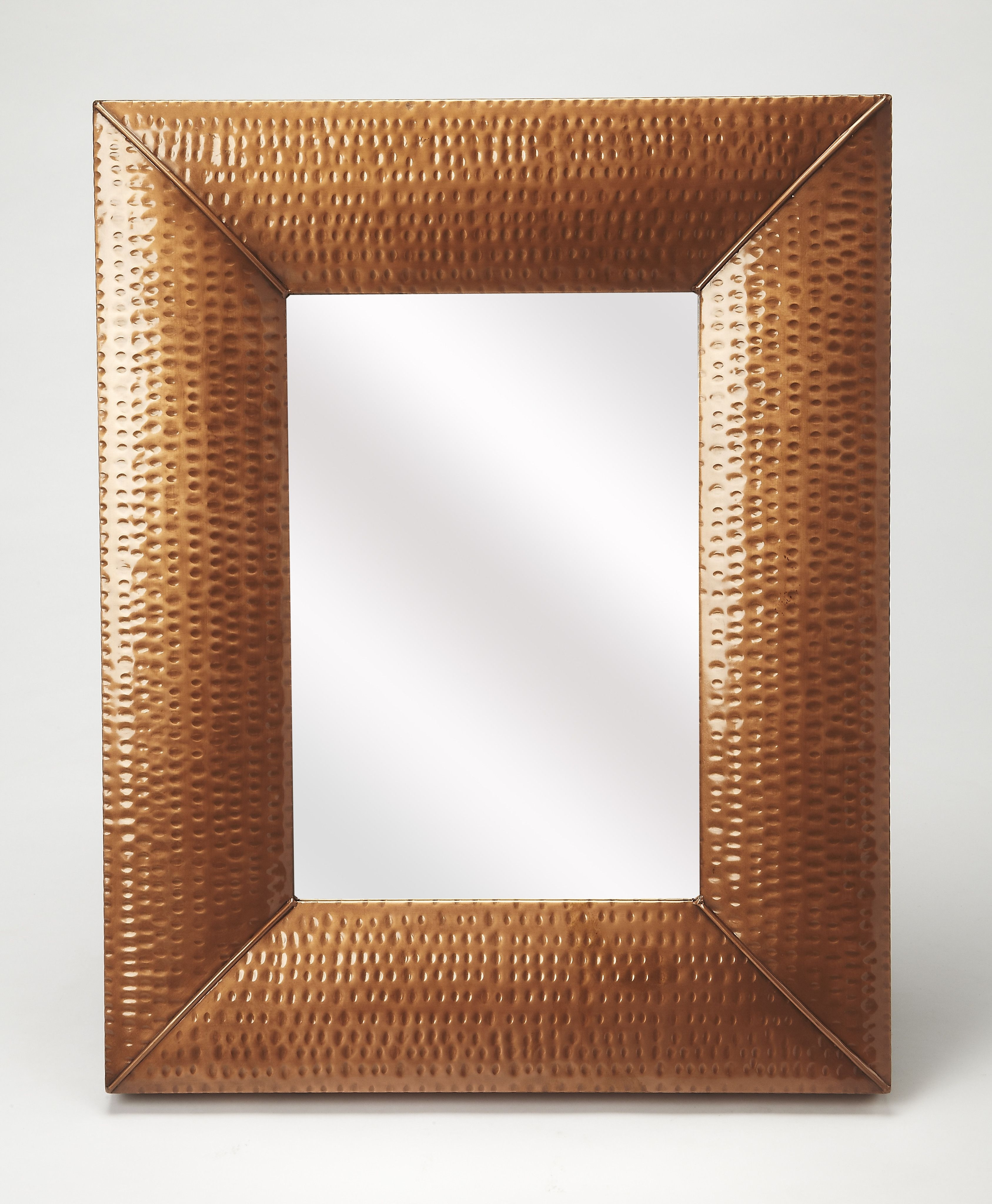 Hammered Copper Wall Mirror
