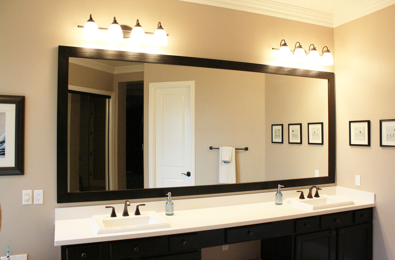 Hanging A Large Bathroom Mirror