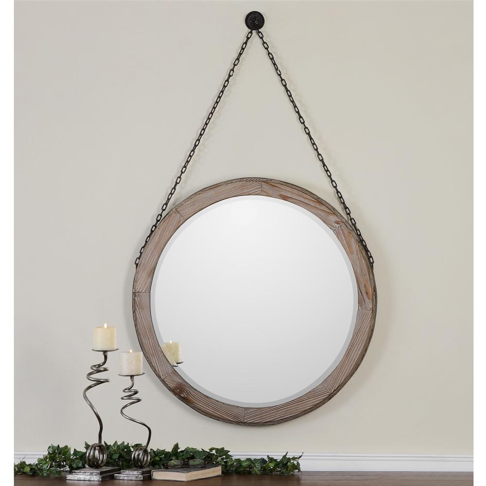 Hanging Wall Mirror With Chain
