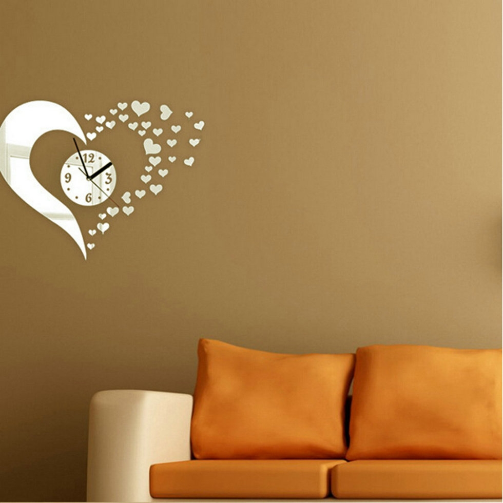 Heart Mirror Wall Decals