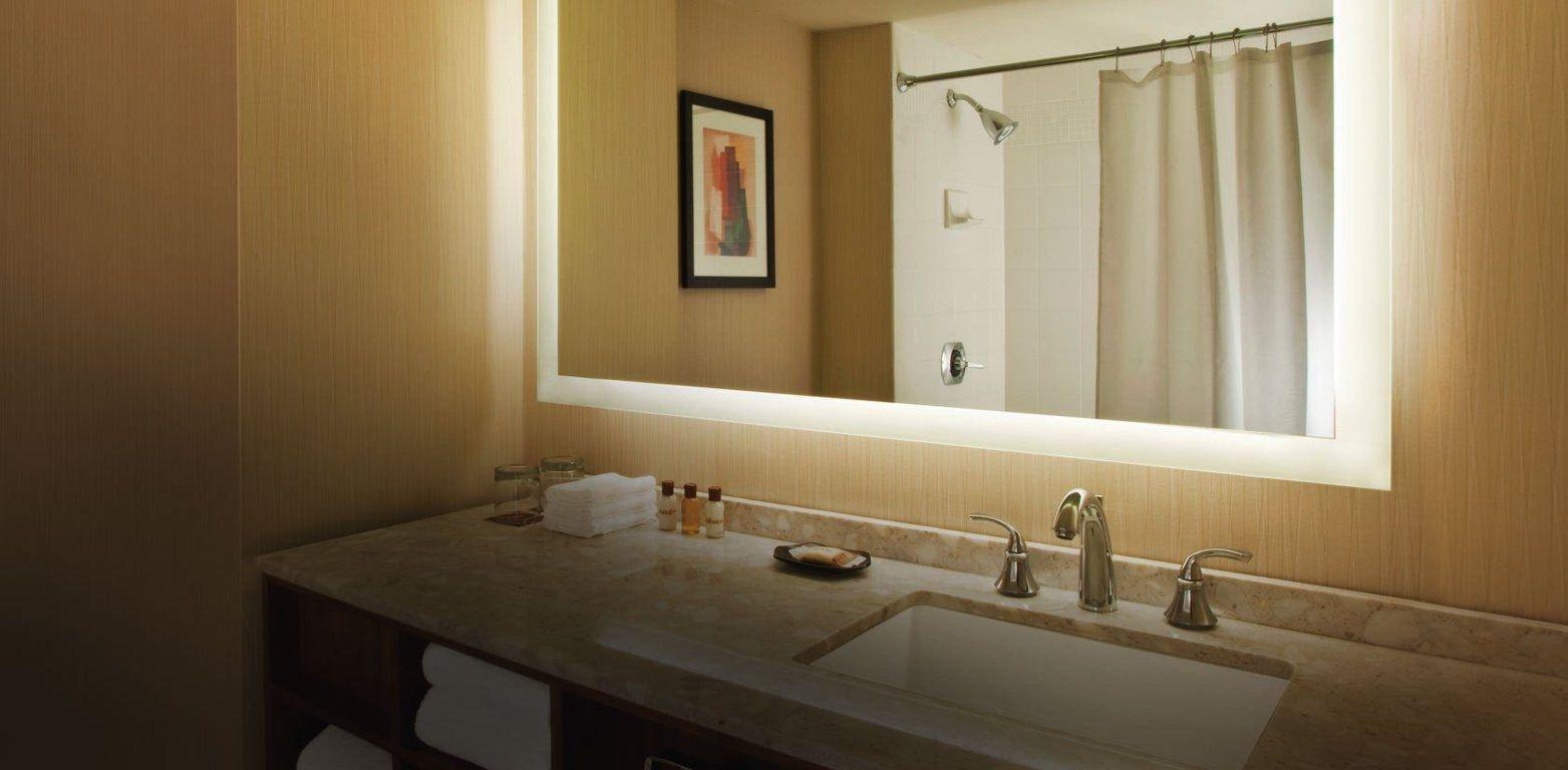 Height Light Above Bathroom Mirror