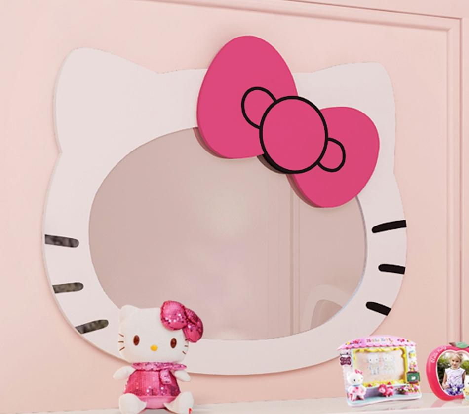 Hello Kitty Mirror Wall Clock