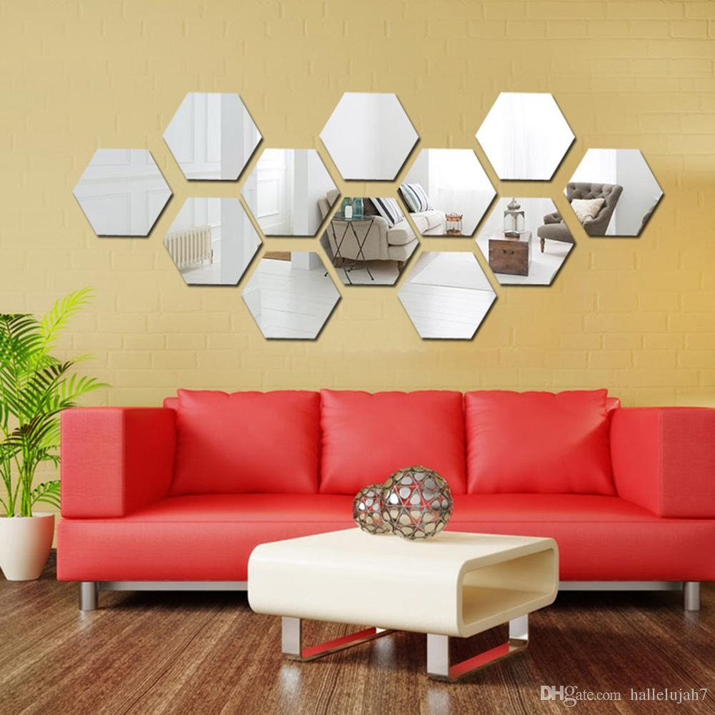 Hexagon Mirror Wall Decal