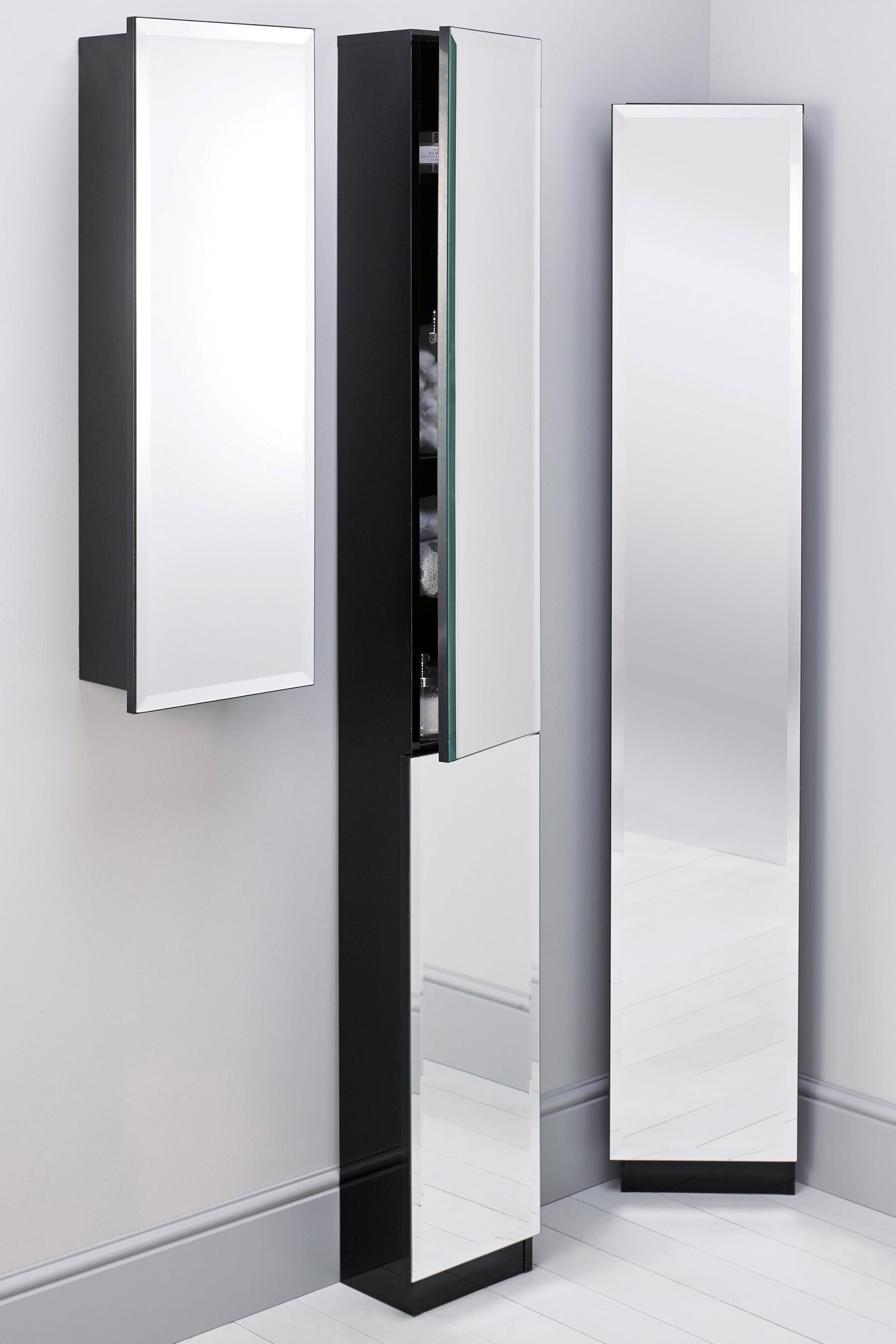 Homebase Swivel Mirror Bathroom Cabinet