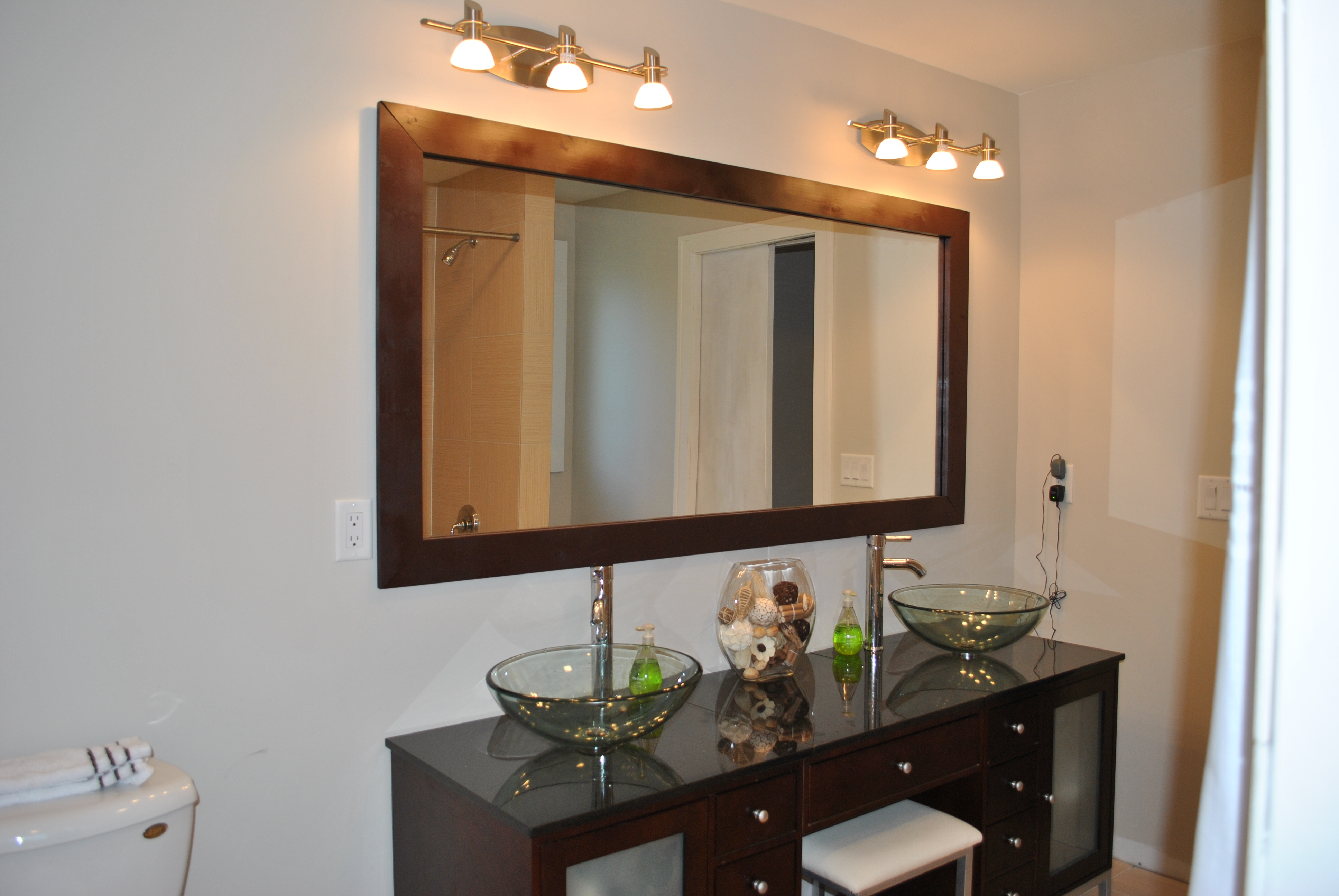 Horizontal Framed Bathroom Mirrors