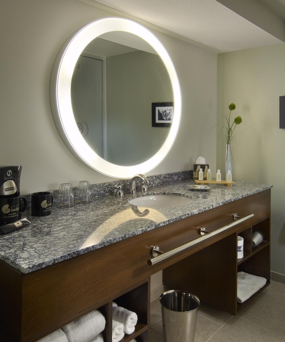 Hotel Bathroom Lighted Mirror