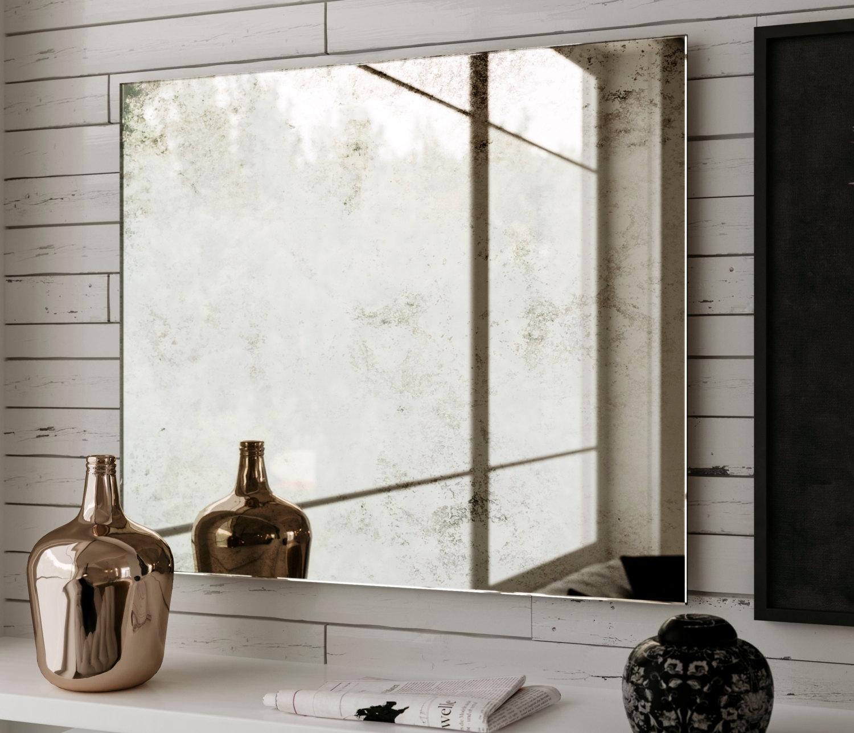 Huge Frameless Wall Mirror