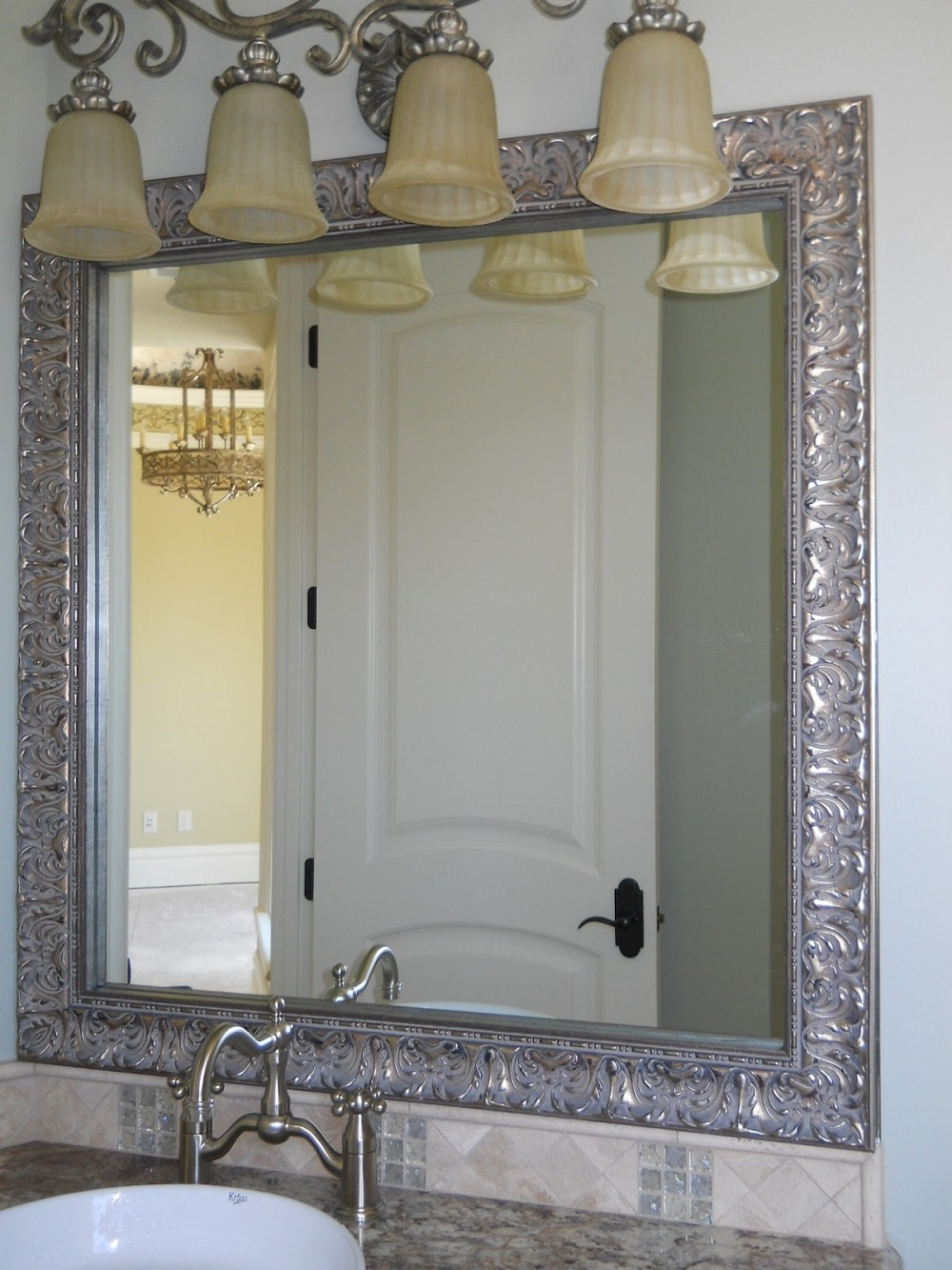 Huws Gray Bathroom Mirrors