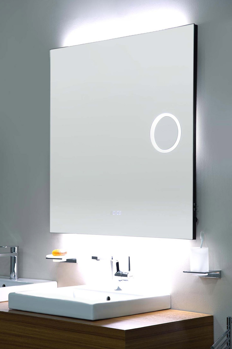 Illuminated Bathroom Mirror With Magnifier