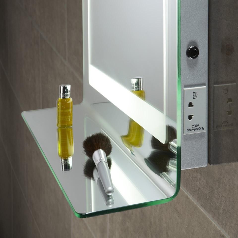 Illuminated Bathroom Mirrors With Shelf