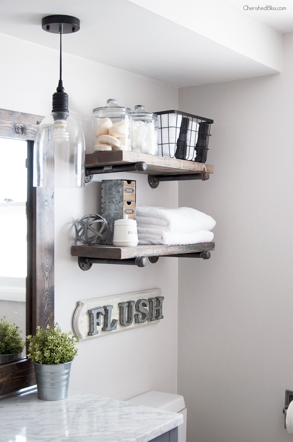Industrial Chic Bathroom Mirrors