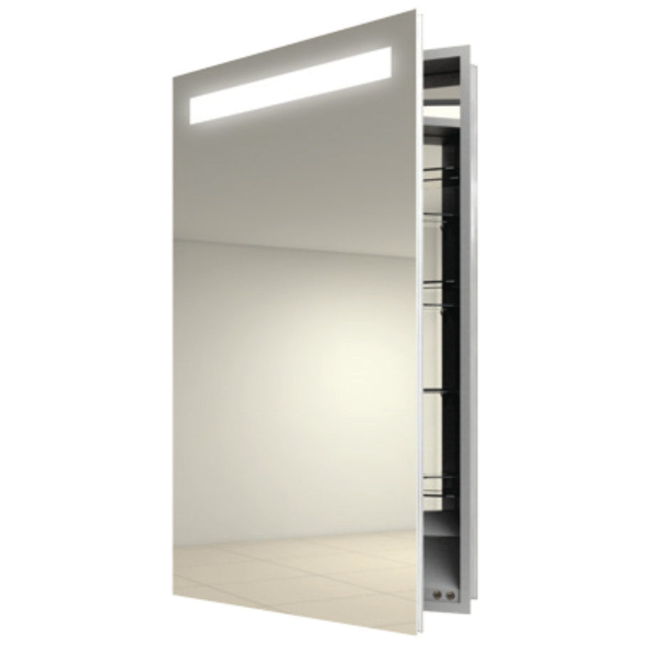 Inset Mirrored Bathroom Cabinets